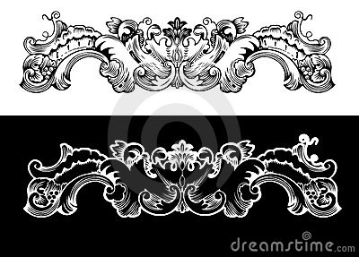 Antique Design Element Engraving