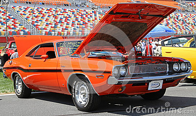 Antique Dodge Challenger Automobile Editorial Stock Photo
