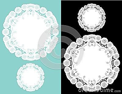 Antique doilies lace