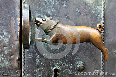 Antique door-handle