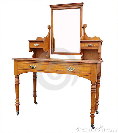 Free Antique Dressing Table With Mirror Stock Photography - 5965012