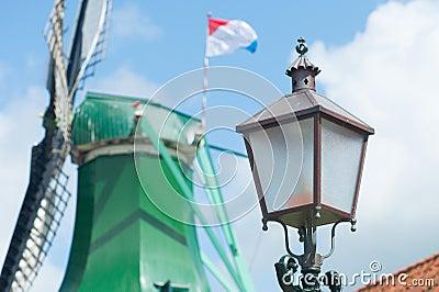 Antique Dutch light pole