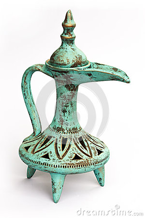 Antique earthenware wine jug