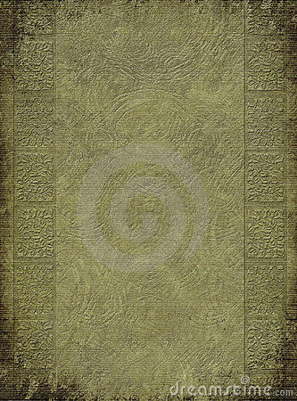 Antique embossed column print on background