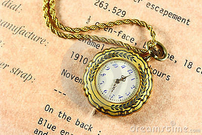 Antique Engraved Gold Watch