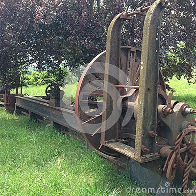 Free Antique Farm Machine In Field Stock Images - 49477954