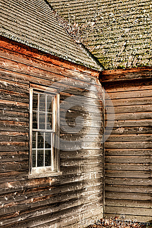Free Antique Farmhouse Old Window And Clapboard Siding Stock Photography - 36065952