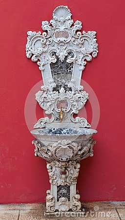 Antique faucet in Dolmabahce palace, Istanbul