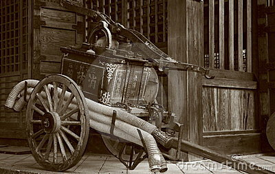 Antique fire pump.