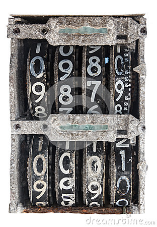 Antique Flip Number Analog Display