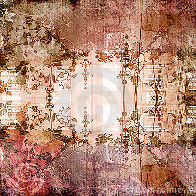 Antique Floral Background