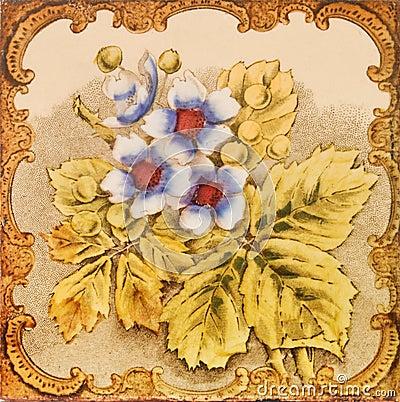 Antique Floral Tile