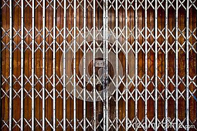 Antique Folding Door Stock Photo