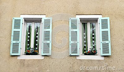 Antique French house window decor