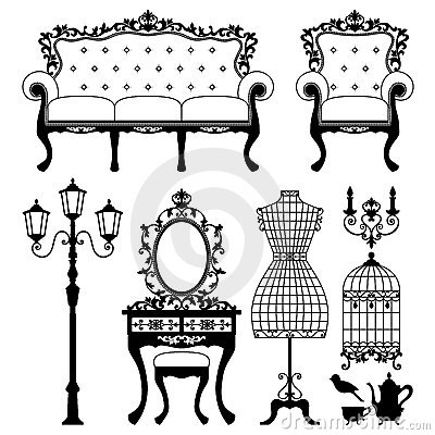 Antique Furniture Clipart 1