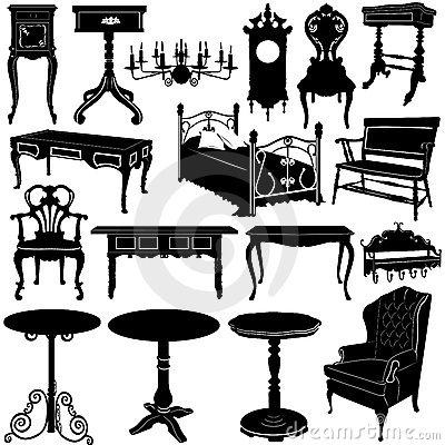 Antique furniture vector 2