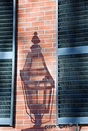 Antique Gas Lamp Shadow