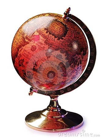 Free Antique Globes Royalty Free Stock Photography - 21223007