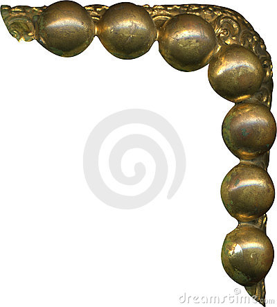 Antique gold bead corner