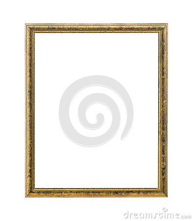 Free Antique Gold Colored Picture Frame Stock Photography - 31622582