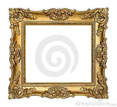 Free Antique Gold Frame Stock Image - 13161721