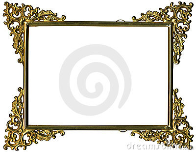 Antique gold frame w/complete work path