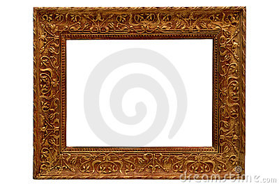 Antique Gold Old Style Gilded Picture Frame