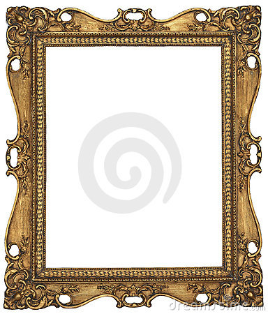 Free Antique Gold Picture Frame Royalty Free Stock Photography - 8734067