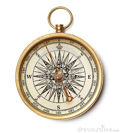 Free Antique Golden Compass Stock Photo - 144314180
