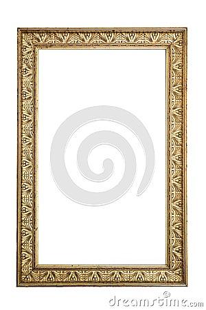 Antique golden frame