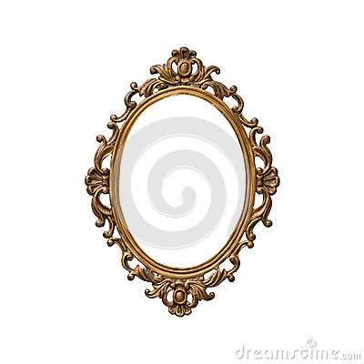 Antique golden frame