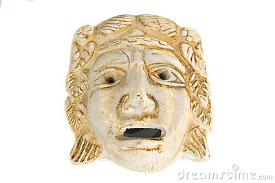 Antique greek mask