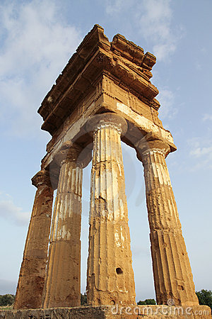Antique greek temple in Agrigento, Sicily