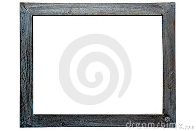 Antique Grunge Wood Picture Frame Isolated