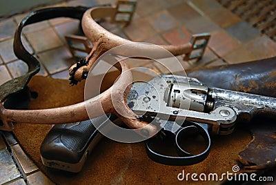 Antique/Gun,Holster,Spurs