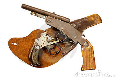 Antique Guns and Holster