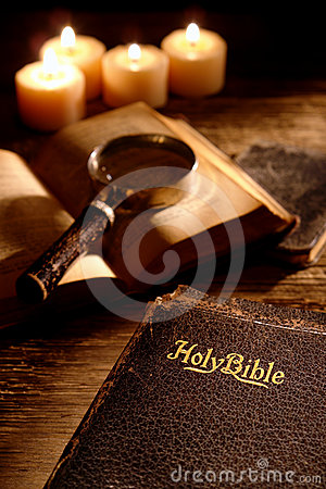 Free Antique Holy Bible Christian Religious Book Study Stock Images - 24484324