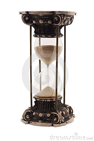 Antique hourglass