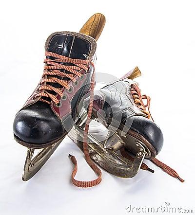 Antique ice hockey skates