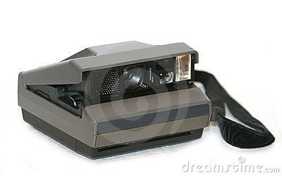 Antique instant film camera