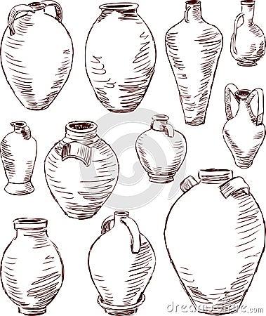 Antique jugs