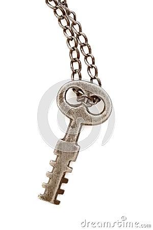 Antique key isolated