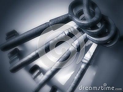 Antique Keys - Pewter