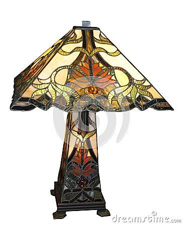 Antique Leadlight Lamp