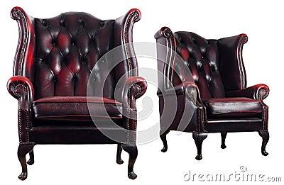 Antique leather armchair