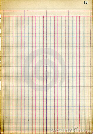 Free Antique Ledger Page Royalty Free Stock Images - 343939