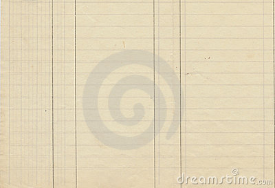 Antique Lined Ledger Paper