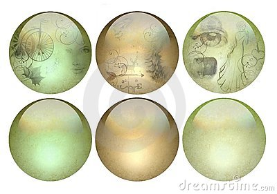 Antique looking pearlized buttons