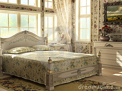 Antique luxury bedroom