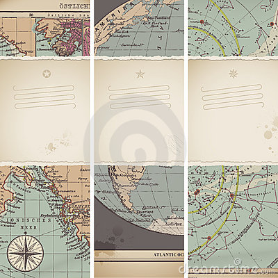 Free Antique Map Banners Stock Image - 19775181